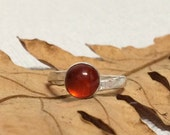 Sterling silver Amber rin...