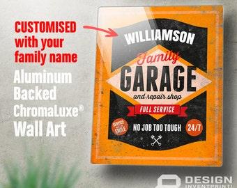 Garage Sign, Custom gift, Custom picture frame, Personalized, Custom present, Custom birthday gift Custom birthday, Custom Garage Sign,
