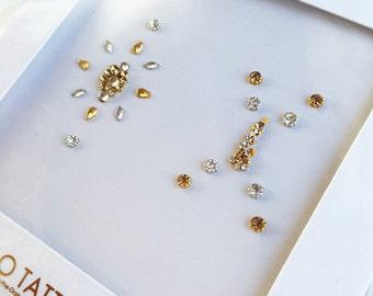 GLO Bindi Pyara Silver & Gold face gems