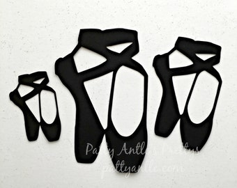 Ballet Shoes Die Cuts, Ballerina Die Cuts, Dance Shoes Die Cuts, Ballet Slipper Die Cuts