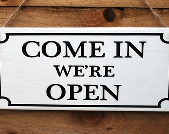 Open Closed Shop Window Door Sign...11 inch x 5 inch...Wooden Hanging