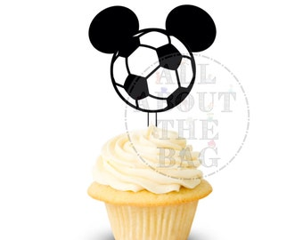 Instant download: Mickey Mouse Soccer Cupcake toppers