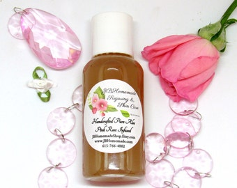 Pink Rose Infused Aloe – Rose Aloe - 2.5 Oz - Real Rose Aloe Vera Gel - Aloe Vera Leaf Gel with Fresh Pink Rose Petals