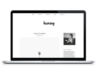 "wordpress theme ""becoming"" - responsive premade blog template design - modern & stylish"