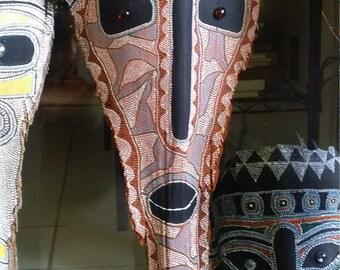 Orange Palm Frond Mask