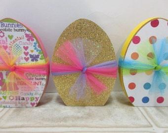 Darling Easter Decor-Spring Decor-Wooden Easter Eggs