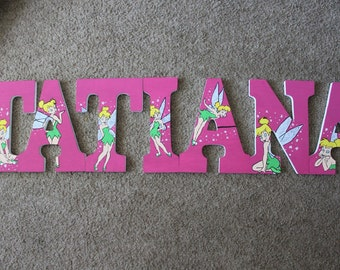 Hand painted tinkerbell letters