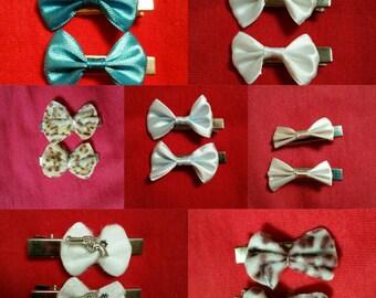Little hair bow hair clips