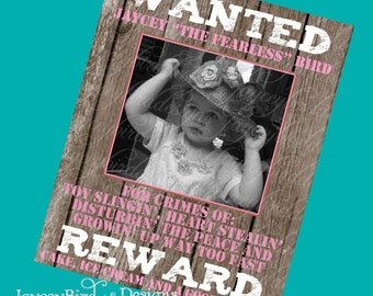 16x20 Personalized Western Wanted Poster Birthday Party Cowgirl Cowboy Sign This Aint My First Rodeo Digital