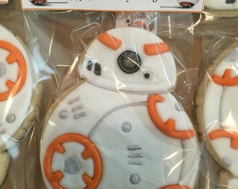 Star Wars Inspired BB-8 Droid Sugar Cookies