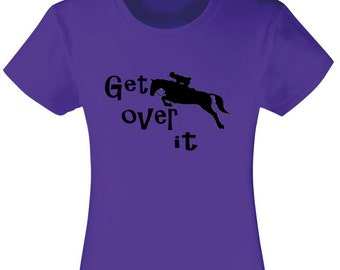 Get over it Kids Horse T-shirt, kids clothing, equestrian clothing