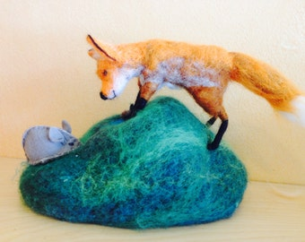 Felted red fox