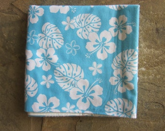 Blue Hawaiian Baby Snuggle Blanket