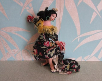 Rare & very collectable vintage Layna Flamenco dancer art doll, made in Barcelona