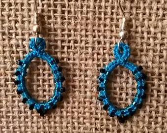 Needle Tatted Drop Earrings