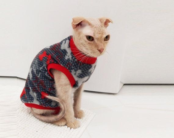 deer fleece pajama sphynx cat clothes cat suit