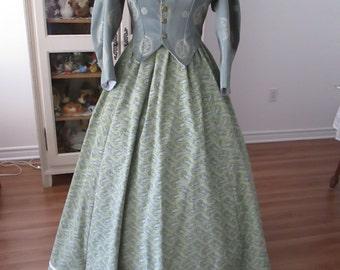 Civil Woman Clothing, 1860-1865 Woman dress
