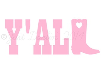 Vinyl Decal - Cooler Decal - Country Decal - Cowgirl Decal - Cowboy Boot Decal - Southern Decal - Southern Girl Decal