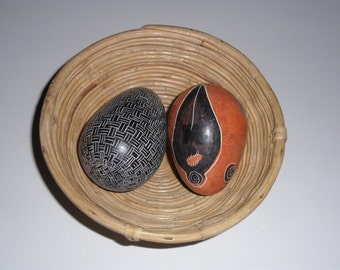 Vintage Small Reed Basket