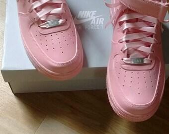 Custom Mid Pink Air Force Ones