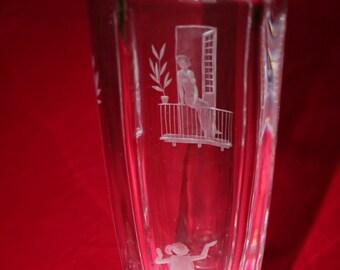 ORREFORS - ROMEO & JULIET Vase (Rare)