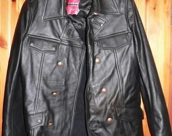 1980s West German Police officers leather jacket unworn medium/slim