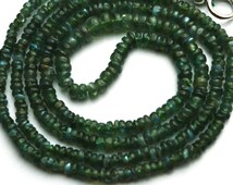 "Very Very Rare Natural Gem Alexandrite Chrysoberyl Smooth 2.5 to 3MM Rondelle Beads Necklace 19"" Strand Finished Necklace Rare Natural Alex"