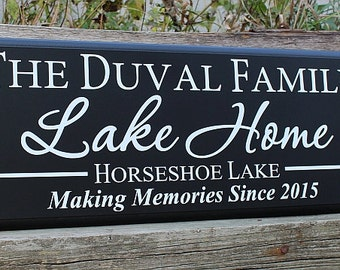 Lake home-lake home sign-family lake home-river home-personalized lake house decoration-making memories lake sign-custom lake house sign-