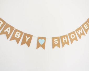Baby Shower Bunting, Baby Girl, Baby Boy, Baby Shower Decorations, Banner, Paper Bunting