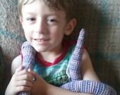 crochet snake plush toy- mulberry
