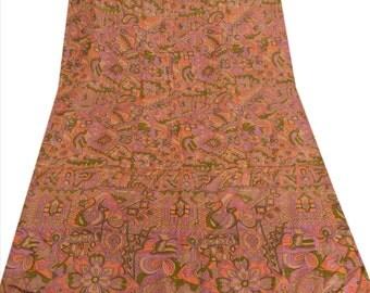 KK Pure Silk Multi Color Saree Printed Sari Cultural Craft Fabric