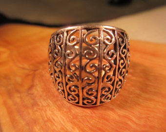 Boho Sterling Silver Ring - 6.5