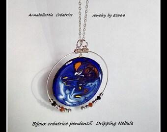 Creative jewels pendant. Dripping Nebula
