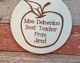 Thank you teacher laser cut and engraved coaster