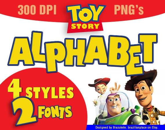 SALE Toy Story Alphabet Clip Art Font Typography Pixar Movie