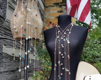 Laurel Nash Jewelry Lariat in Black & Tan