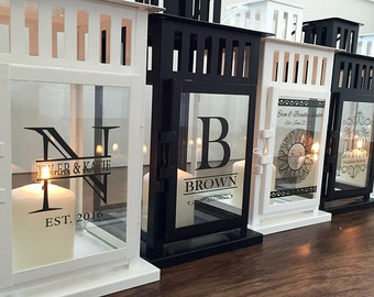 Personalized Lanterns - 2 Colors Available - 8 Designs To Choose
