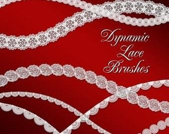 Dynamic Lace Photoshop Brush Set