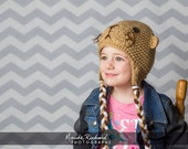 Knitted otter cap, crochet animal hat for babies toddlers kids adults, unisex