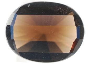 Transparent Golden Gray Faceted Smoky Quartz Ovals, Clean, 24ct