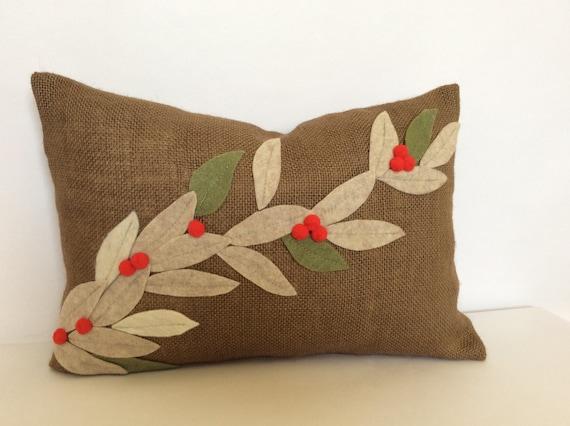 Items Similar To Christmas Lumbar Pillow Cover Burlap