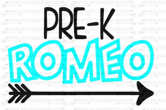 Svg Dxf Eps Cut File Pre K Romeo Arrow Svg Teacher Svg