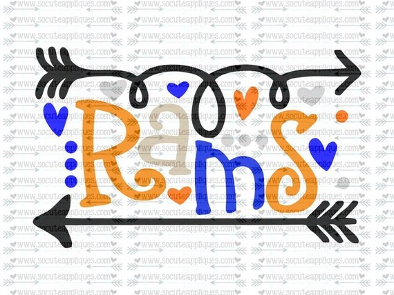 Rams Fun Arrows Svg Socuteappliques Svg Sayings