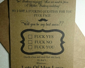Will you be my best man? Free p&p to uk