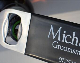 Printed Bottle Opener - Stainless Steel Opener - Beer Bottle Opener -  Personalized Groomsmen Gift -  Speed Opener - Paddle Opener