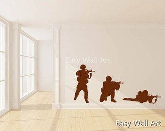 Soldiers Wall Decal, Man-At-Arms Wall Decal for Bedroom, Office Man-At-Arms & Soldier Wall Decal Soldiers Wall Art Decal #S25