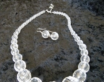 Clear Bauble Necklace Set