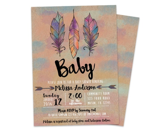 tribal baby shower invitation aztec baby shower invite, Baby shower invitations