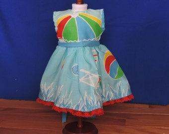 "18"" Doll sleeveless dress with contrasting yoke"