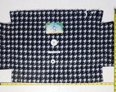Kool Kitty Catnip Infused Fleece Padded Blanket (Checkered Black Pattern)